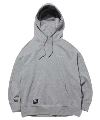BASIC DROP OVER FIT HOODIE (MELANGE GRAY) [GHD022G43MG]