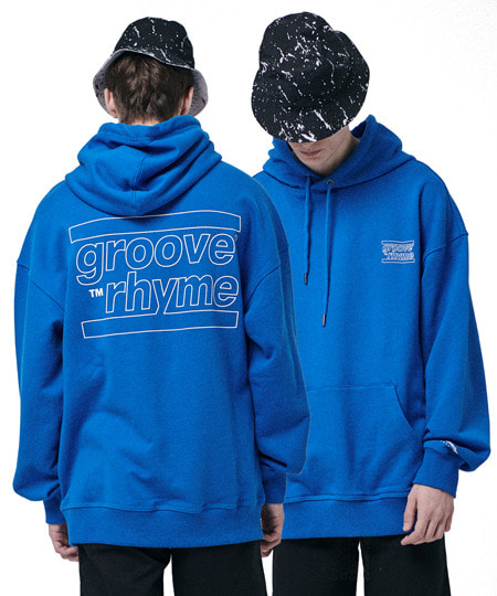 OVER FIT BACK BIG LOGO HOODY (BLUE) [GHD001H13BL]