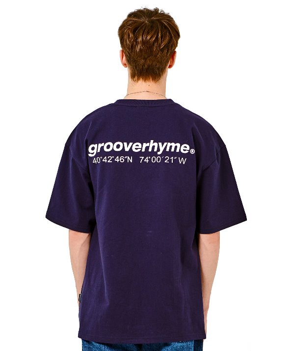 LOGO BASIC OVER FIT T-SHIRTS (NAVY) [GTS020H23ND]