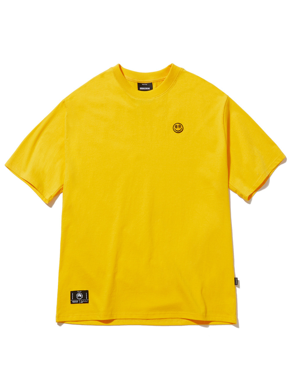 [스마일컬렉션] SMALL SMILE LOGO OVER FIT T-SHIRTS (YELLOW) [GTS050H23YE]