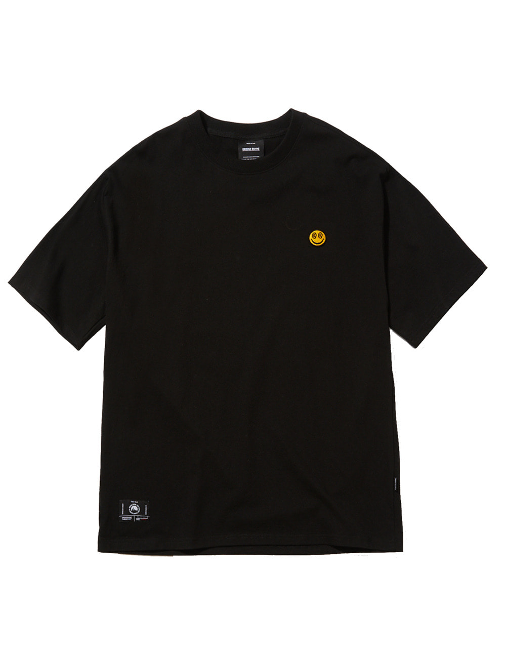 [스마일컬렉션] SMALL SMILE LOGO OVER FIT T-SHIRTS (BLACK) [GTS050H23BK]