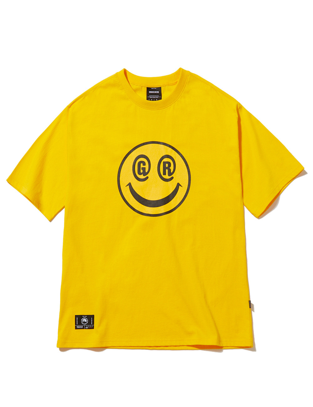 [스마일컬렉션] BIG SMILE LOGO OVER FIT T-SHIRTS (YELLOW) [GTS051H23YE]