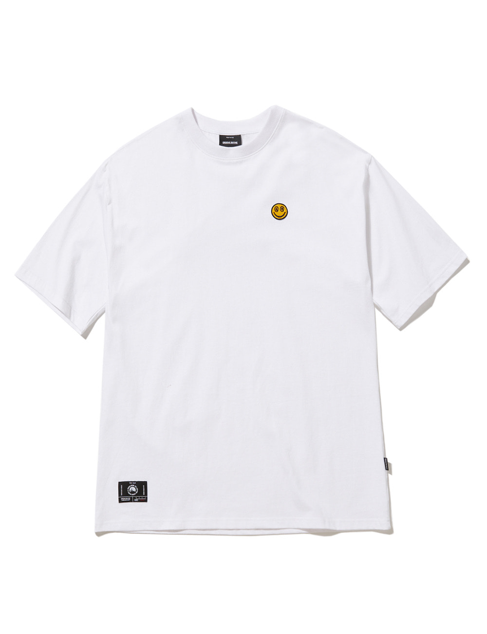 [스마일컬렉션] SMALL SMILE LOGO OVER FIT T-SHIRTS (WHITE) [GTS050H23WH]