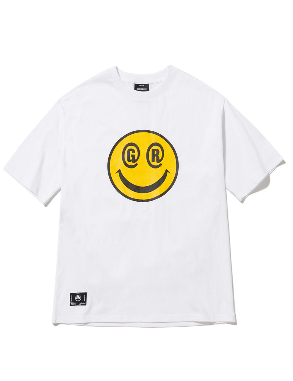[스마일컬렉션] BIG SMILE LOGO OVER FIT T-SHIRTS (WHITE) [GTS051H23WH]