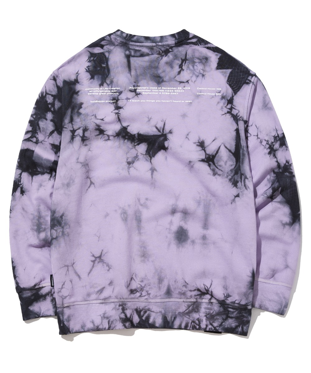 TRENDY TIE-DYEING SWEAT SHIRTS (PURPLE) [GMT510H43PPA]