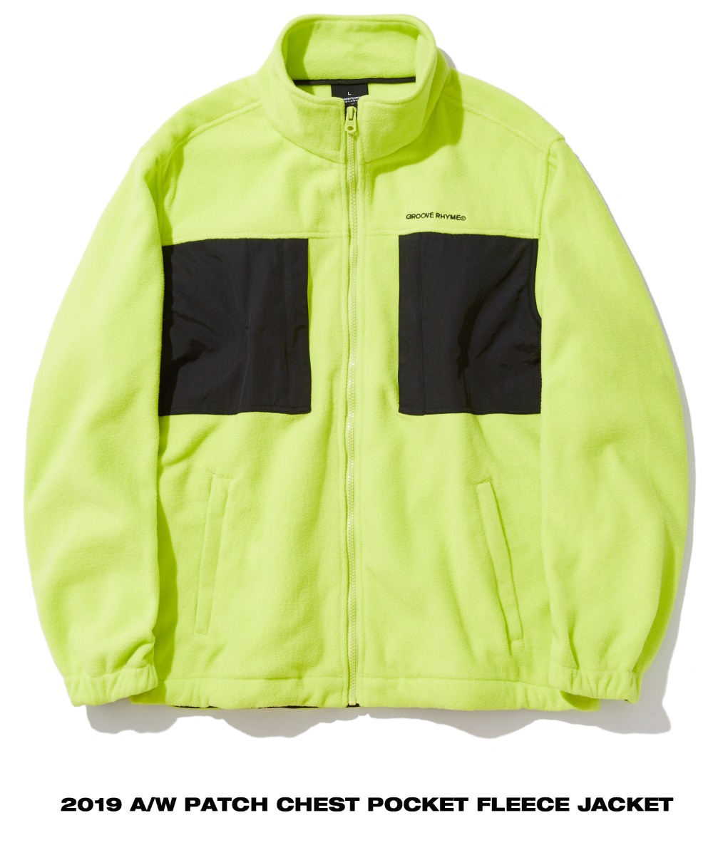 PATCH CHEST POCKET FLEECE JACKET (LIME) [GFZ404H43LMA]