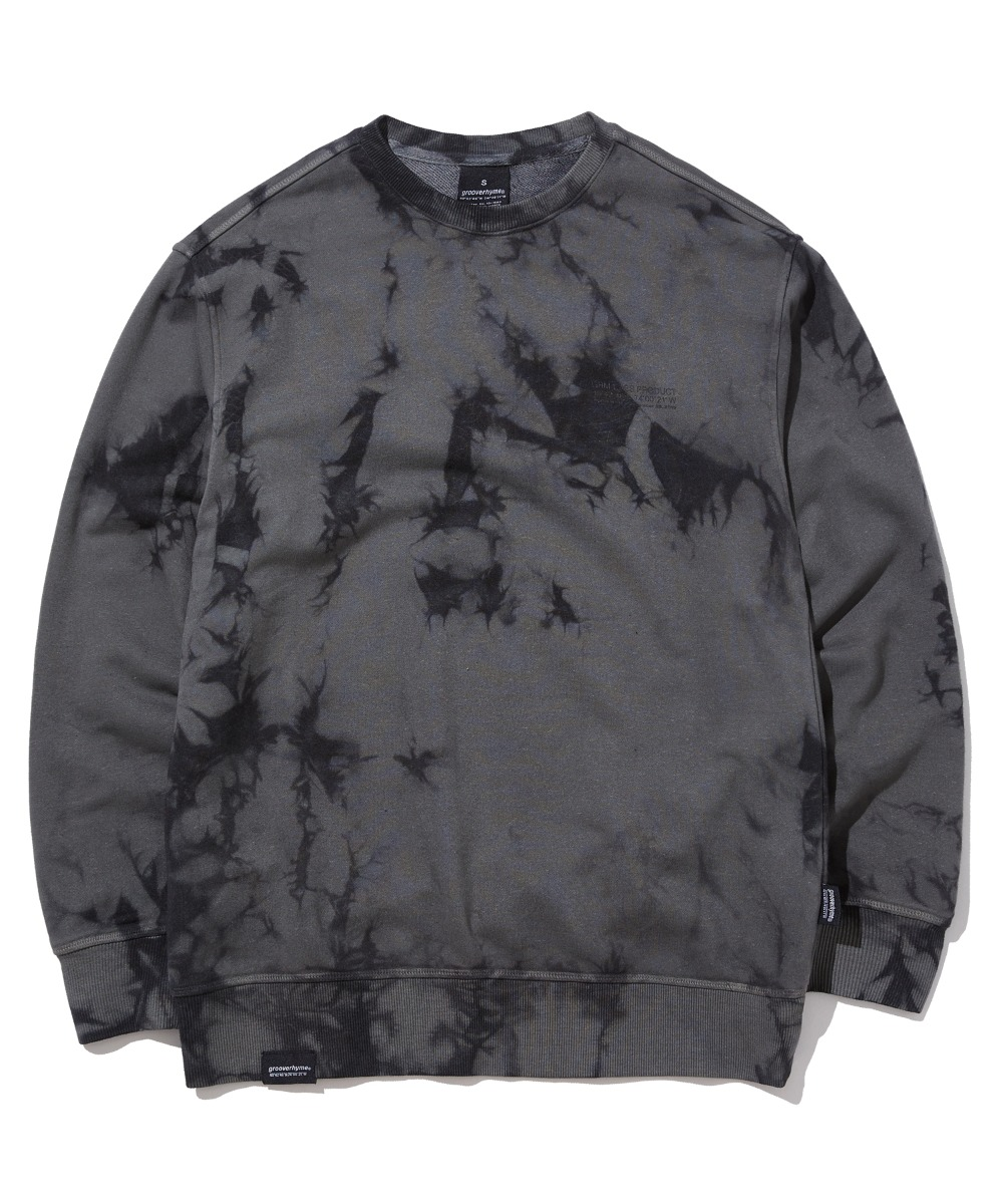 TRENDY TIE-DYEING SWEAT SHIRTS (CHARCOAL) [GMT510H43CHA]
