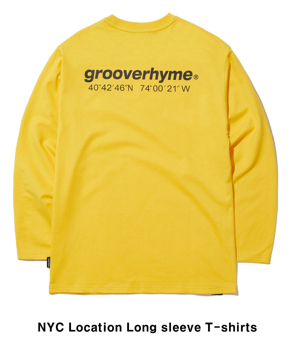 NYC LOCATION LONG SLEEVE T-SHIRTS (YELLOW) [GLT601H33YEA]
