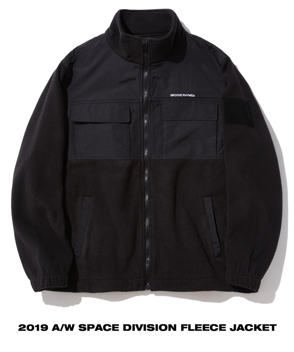 SPACE DIVISION FLEECE JACKET (BLACK) [GFZ405H43BKA]