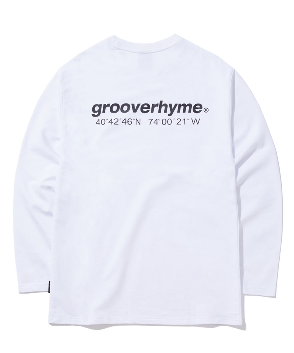 NYC LOCATION LONG SLEEVE T-SHIRTS (WHITE) [GLT601H33WHA]