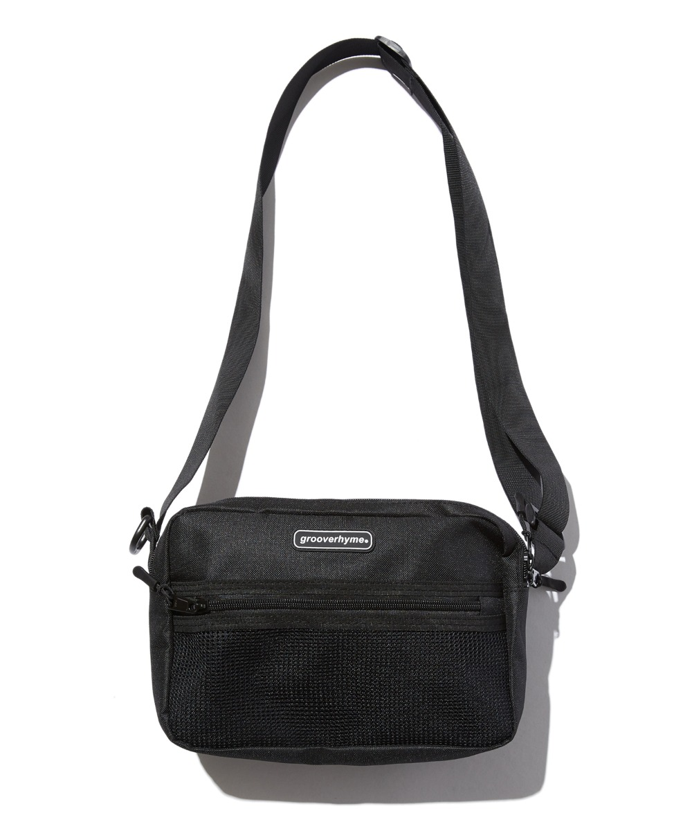 MESH POCKET CROSS BAG (BLACK) [GBG107H53BK]