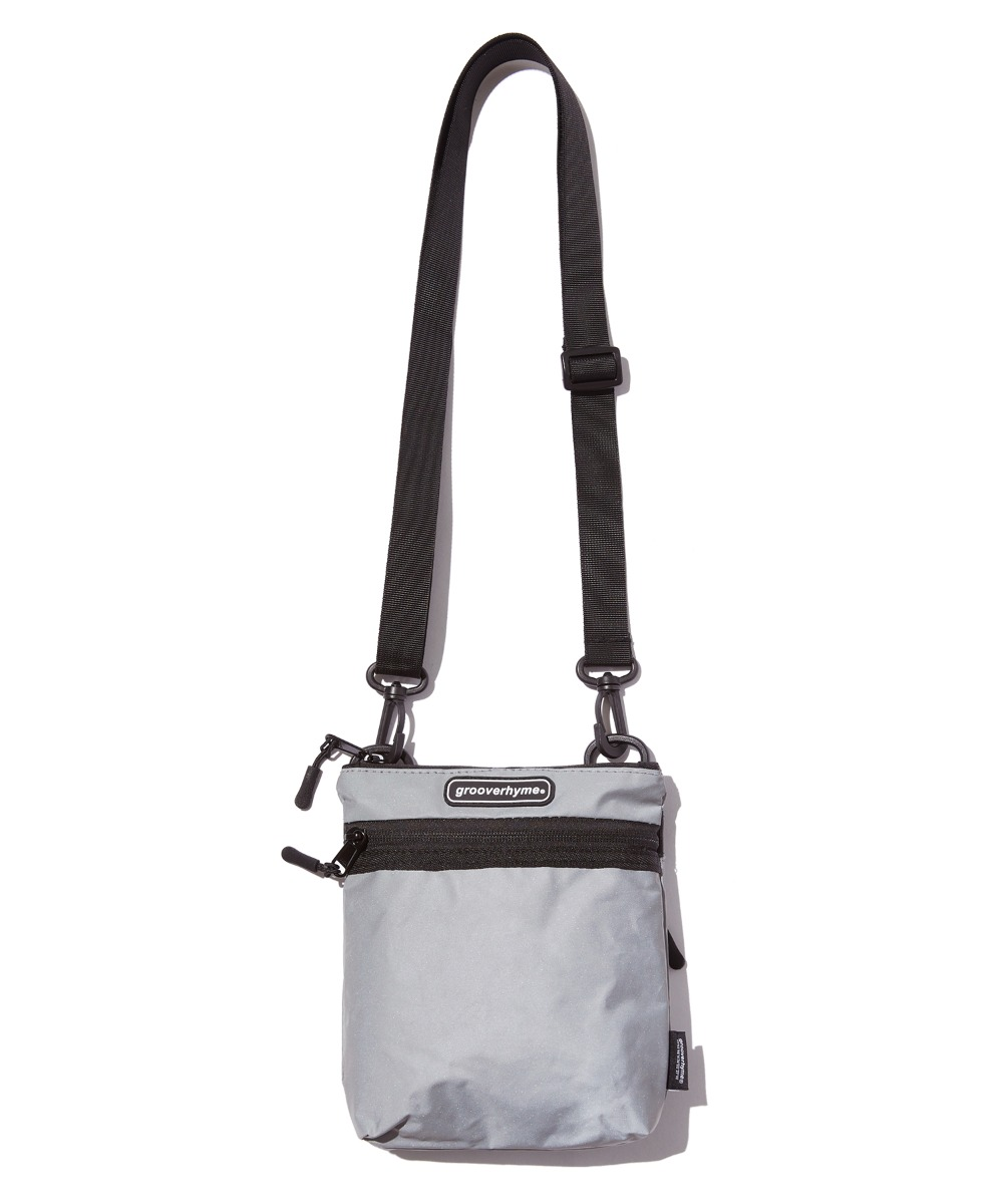 FLAT REFLECTIVE CROSS BAG (GREY) [GBG109H53GY]