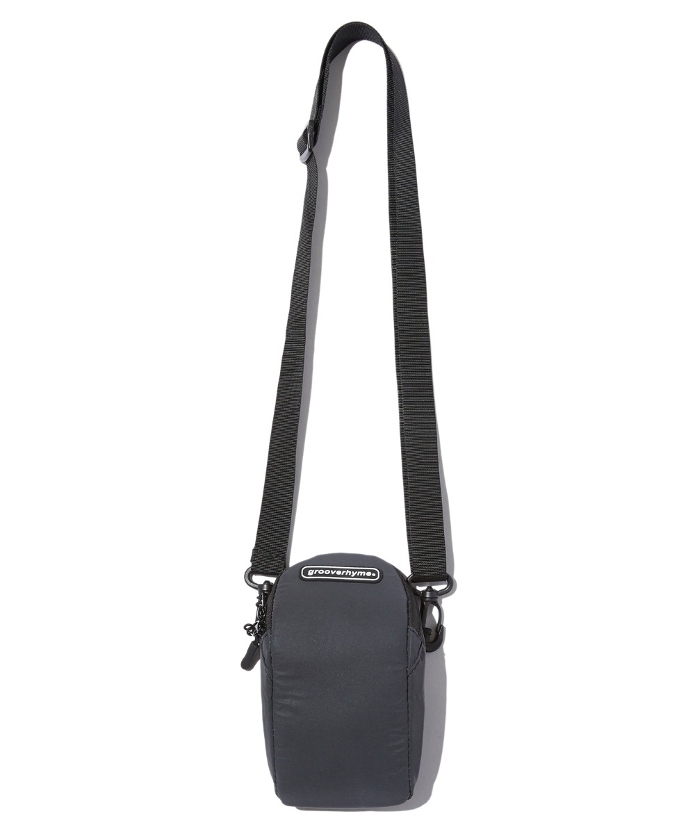 REFLECTIVE CROSS POUCH BAG (BLACK) [GBG110H53BK]