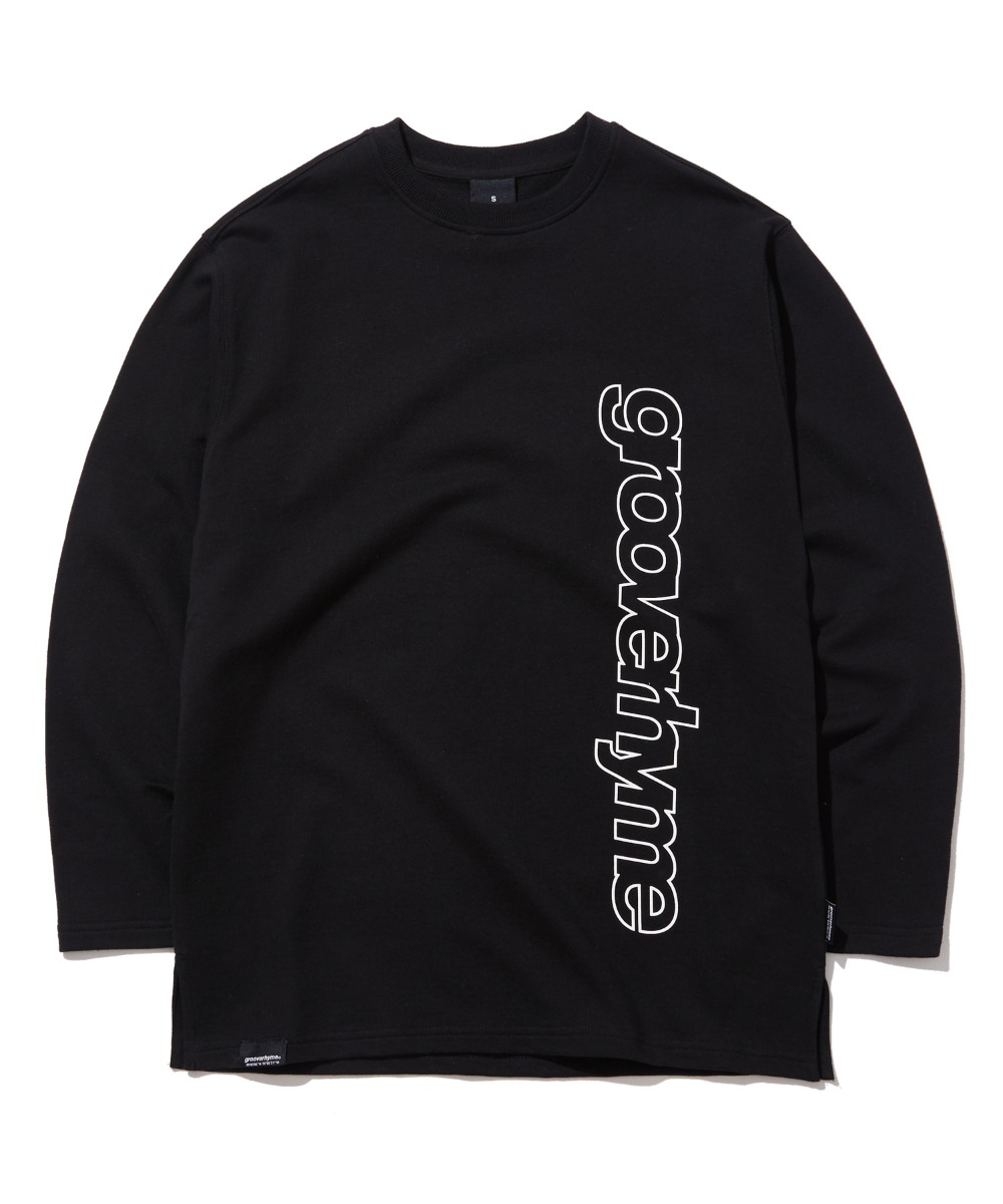 COLUMN LOGO LONG SLEEVE T-SHIRTS (BLACK) [GLT622I13BK]