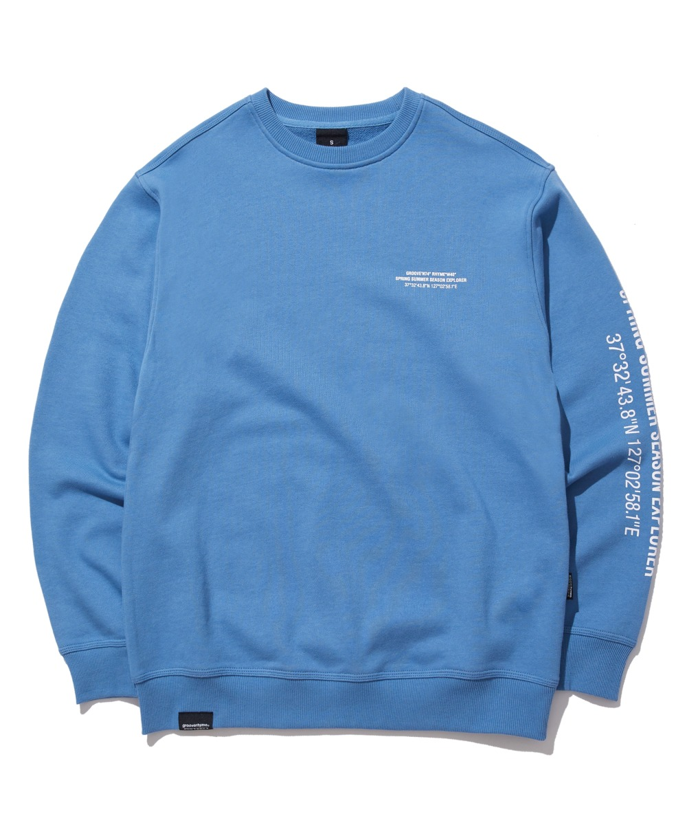 MATRIX LOCATION SWEAT SHIRTS (BLUE) [GMT522I13BL]