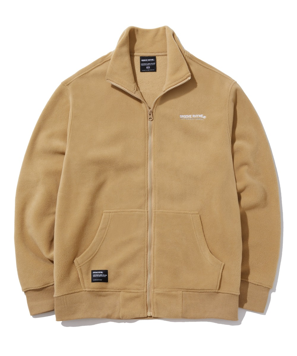 POLAR FLEECE FULL ZIP-UP (BEIGE) [GFZ401H43BEA]