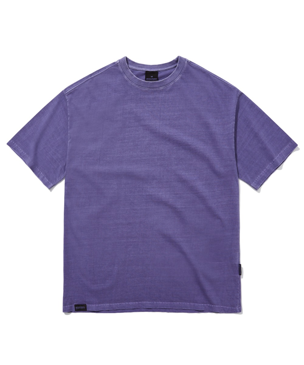 BASIC PIGMENT OVER FIT T-SHIRTS (PURPLE) [GTS764I23PU]