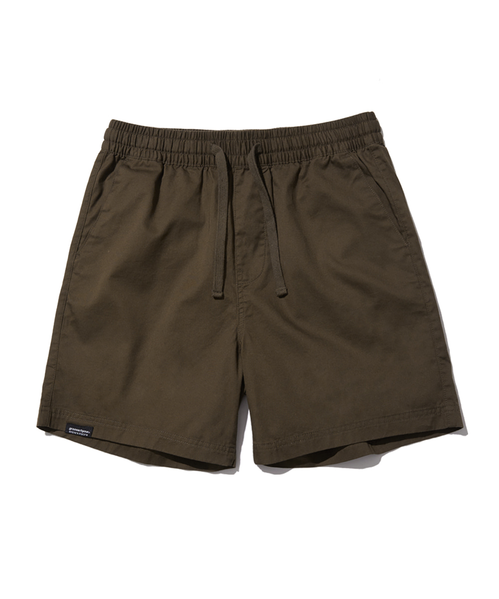 BASIC HALF PANTS (BROWN) [GSP821I23BR]