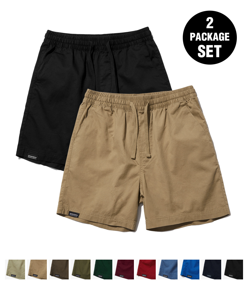 1+1 BASIC HALF PANTS (11COLOR) [GSP821I23]