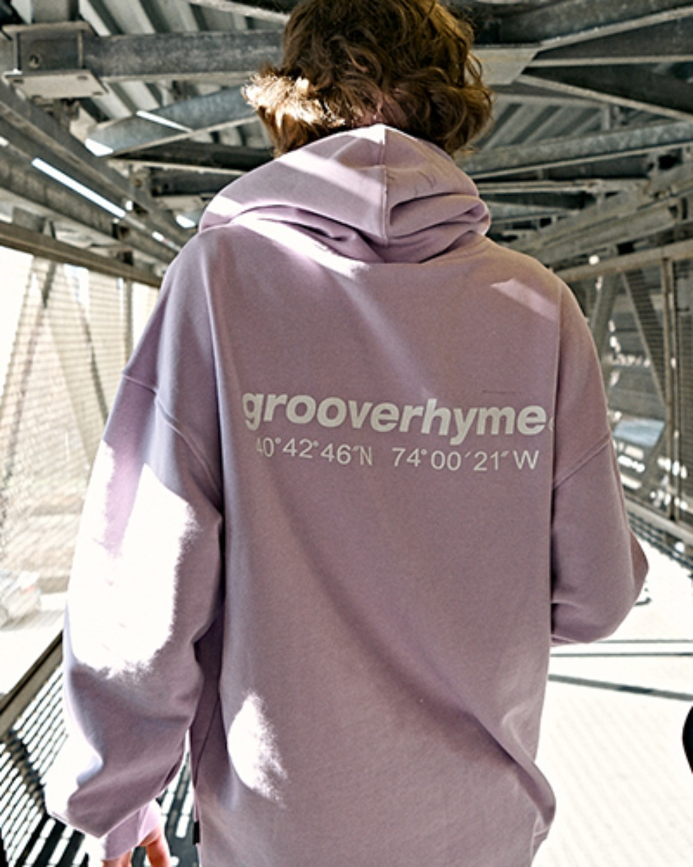 OVER FIT BASIC LOGO HOODY (LIGHT PURPLE) [GHD002H13LU]