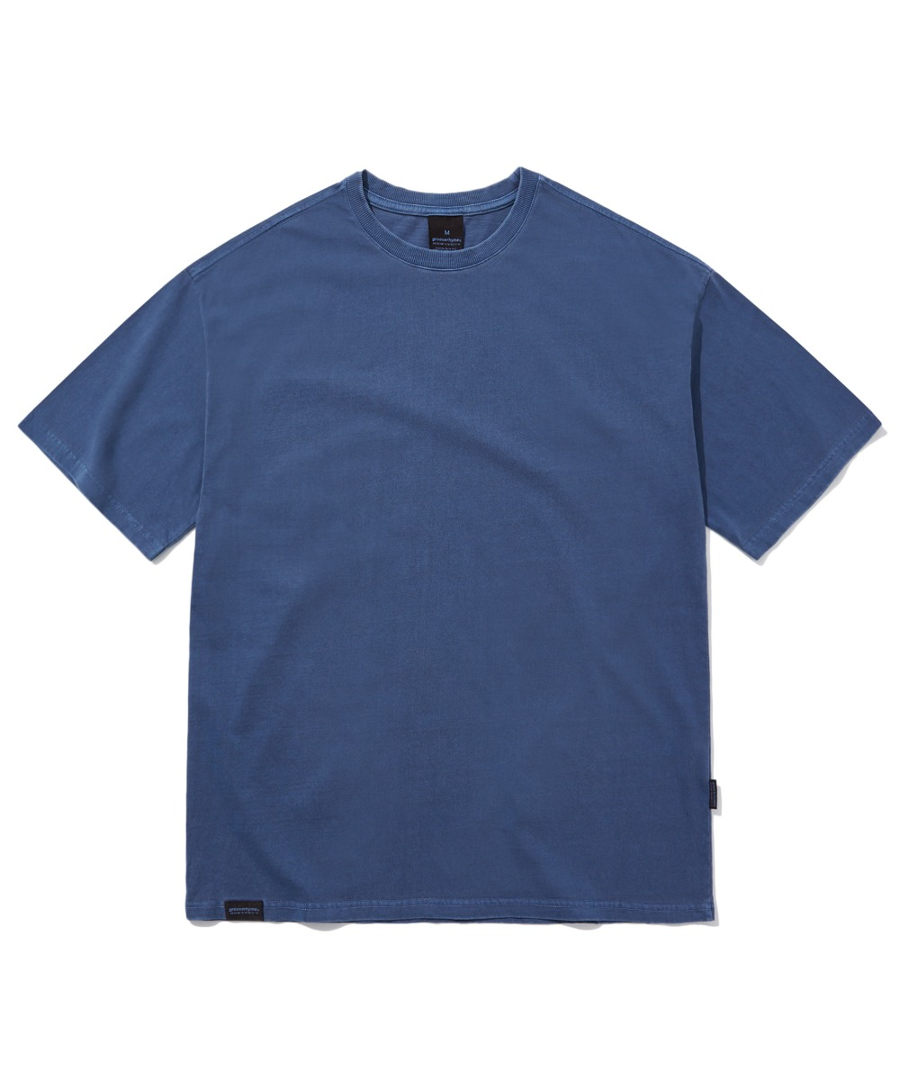 BASIC PIGMENT OVER FIT T-SHIRTS (NAVY) [GTS764I23NA]