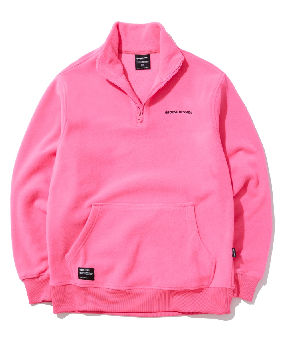 POLAR FLEECE HALF ZIP-UP (DEEPPINK) [GNZ301H43DPI]