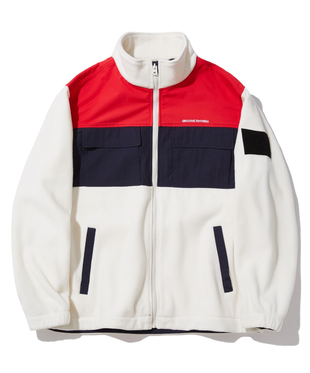 SPACE DIVISION FLEECE JACKET (WHITE) [GFZ405H43WHA]