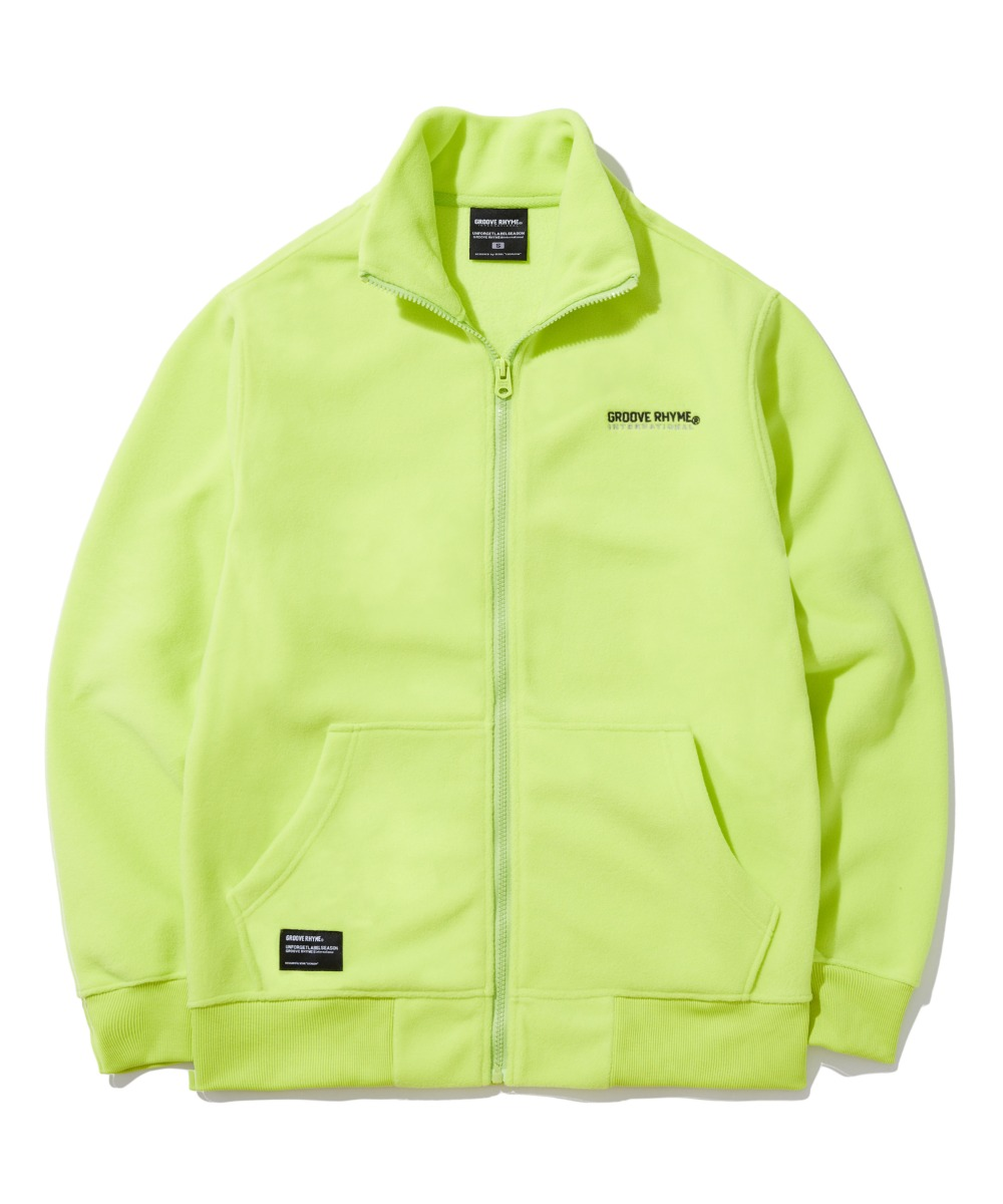 POLAR FLEECE FULL ZIP-UP (LIME) [GFZ401H43LIA]