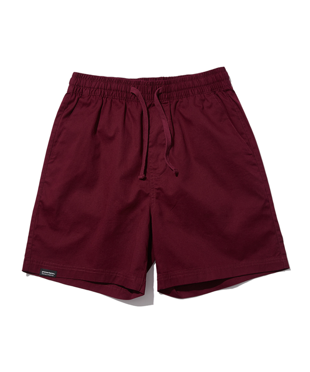 BASIC HALF PANTS (WINE) [GSP821I23WI]