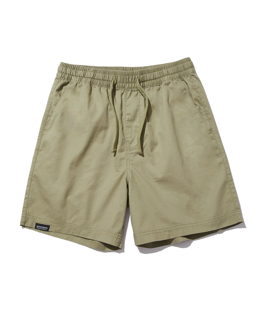 BASIC HALF PANTS (LIGHT KHAKI) [GSP821I23LK]