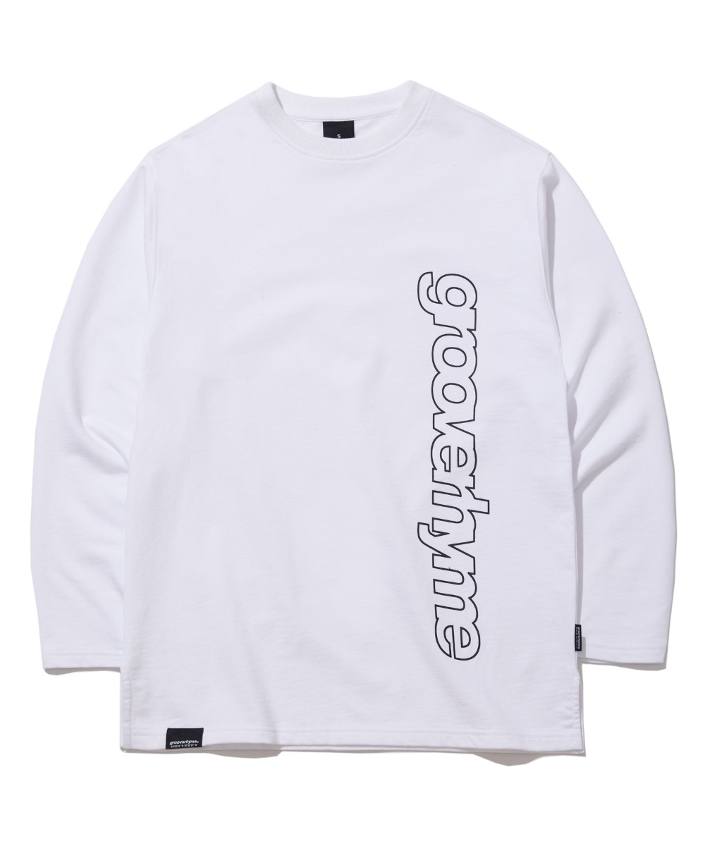 COLUMN LOGO LONG SLEEVE T-SHIRTS (WHITE) [GLT622I13WH]