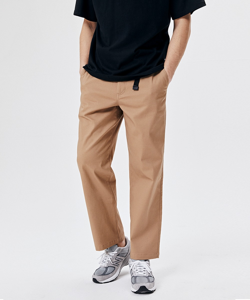 BUCKLE CHINO BANDING PANTS (BEIGE) [GPT921I13BE]