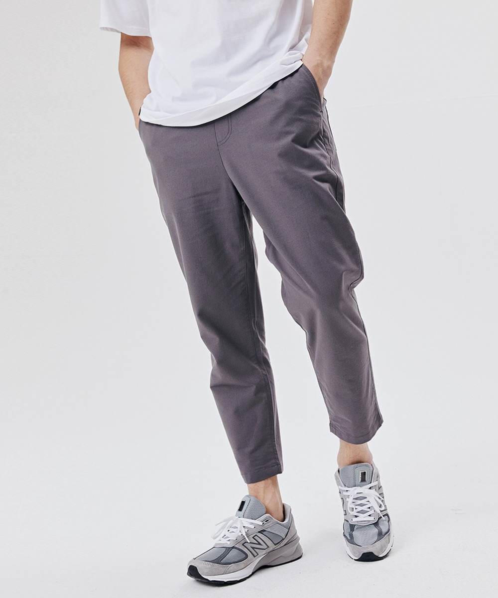 CROP BANDING PANTS (DARK GREY) [GPT922I13DG]