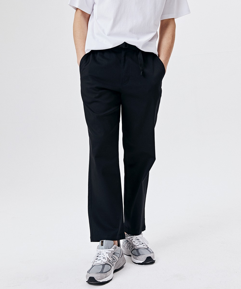 BUCKLE CHINO BANDING PANTS (BLACK) [GPT921I13BK]