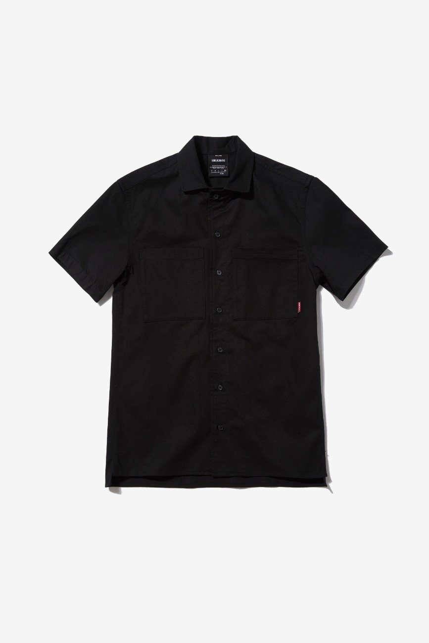 BOWLING OVER FIT SHIRTS (BLACK) [GSH002H23BK]