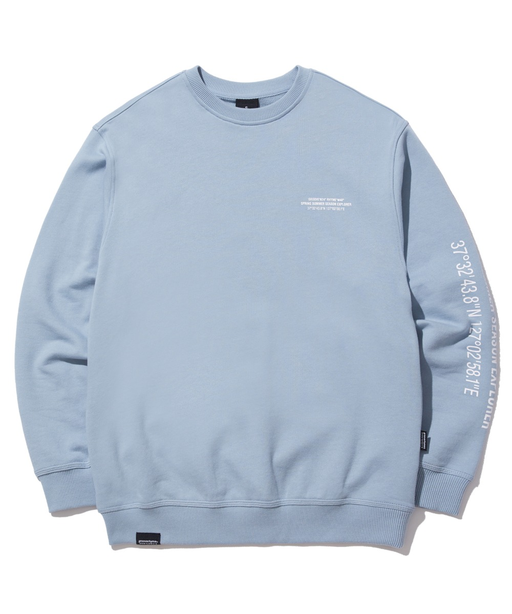MATRIX LOCATION SWEAT SHIRTS (LIGHT BLUE) [GMT522I13LB]