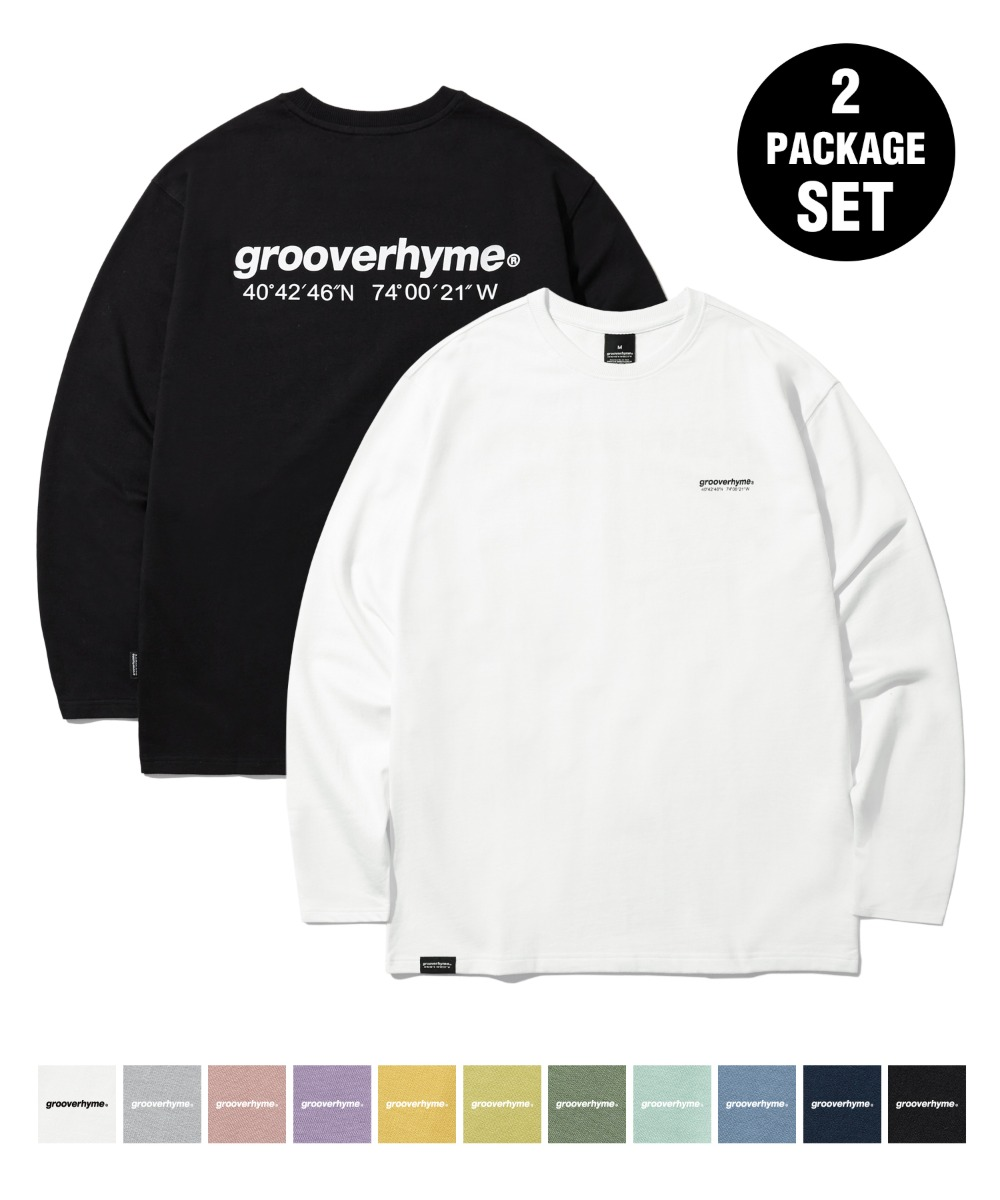 [1+1] NYC LOCATION LONG SLEEVE T-SHIRTS (11COLOR) [LROFCTR721M]