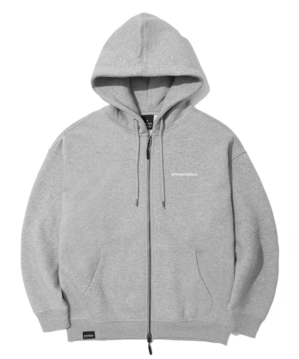NYC LOCATION HOOD ZIP-UP (MELANGE GREY) [LROWCTZ742MGYM]