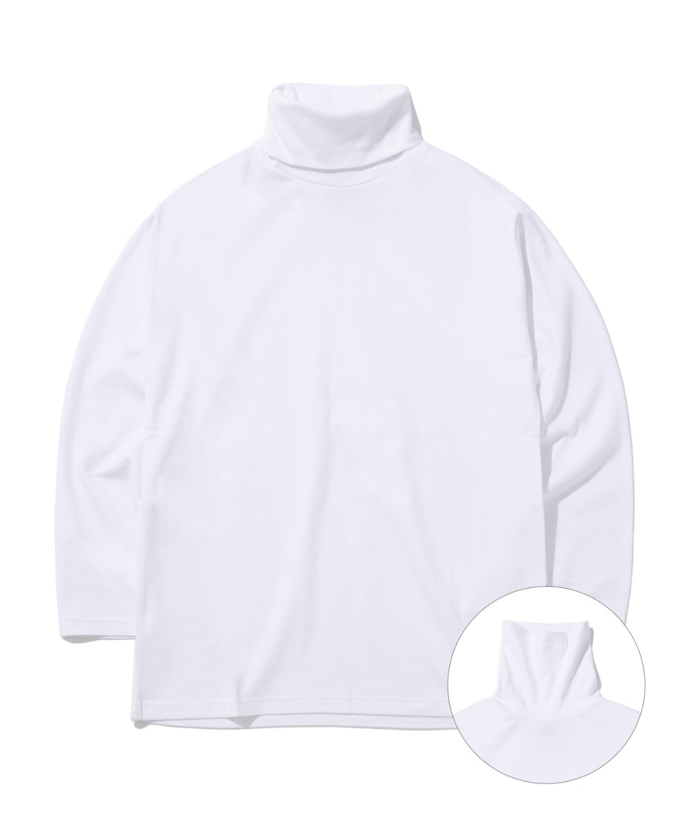 DAILY TURTLE NECK T-SHIRTS (WHITE) [GLT602H33WHA]