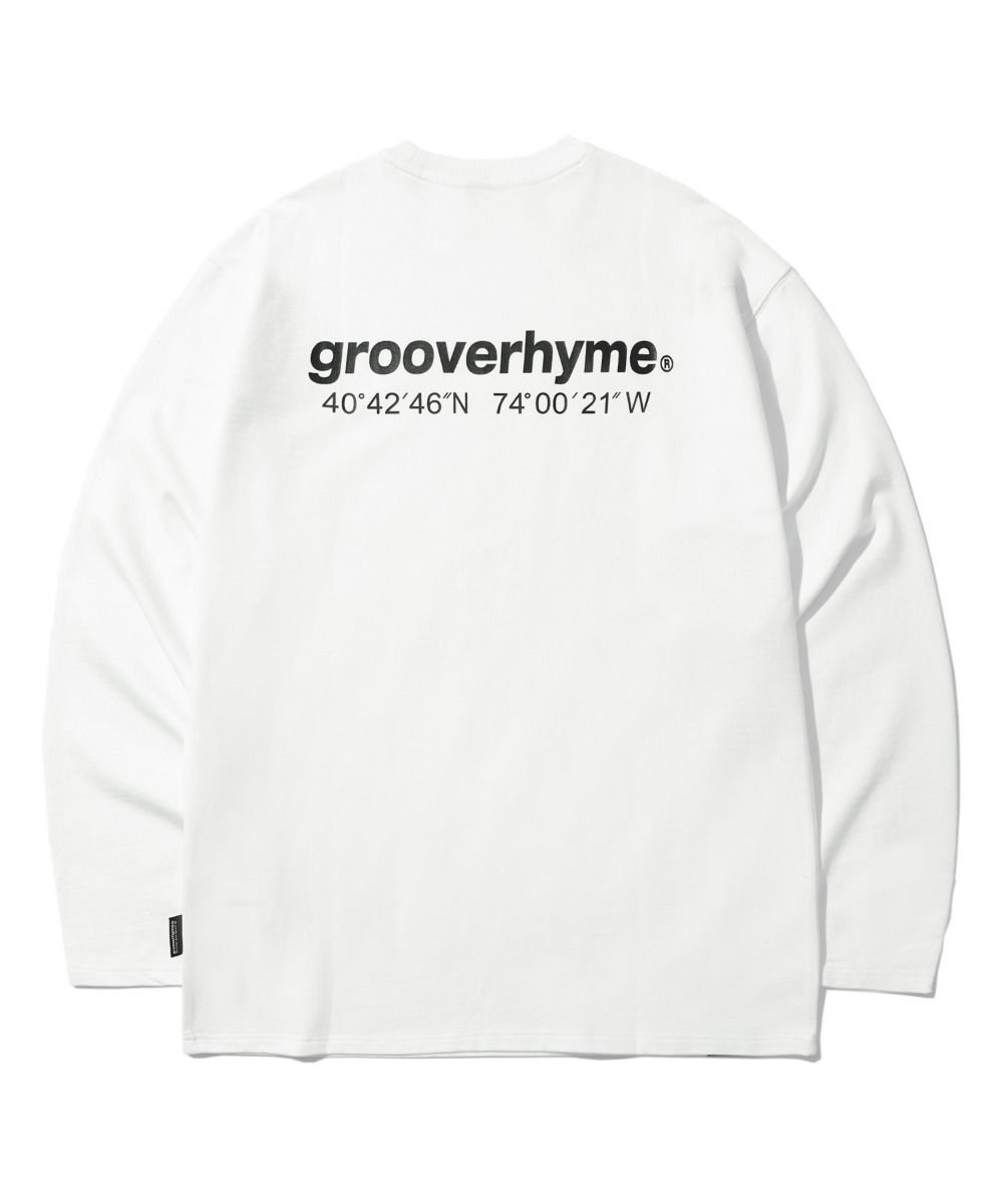 NYC LOCATION LONG SLEEVE T-SHIRTS (WHITE) [LROFCTR721MWHA]