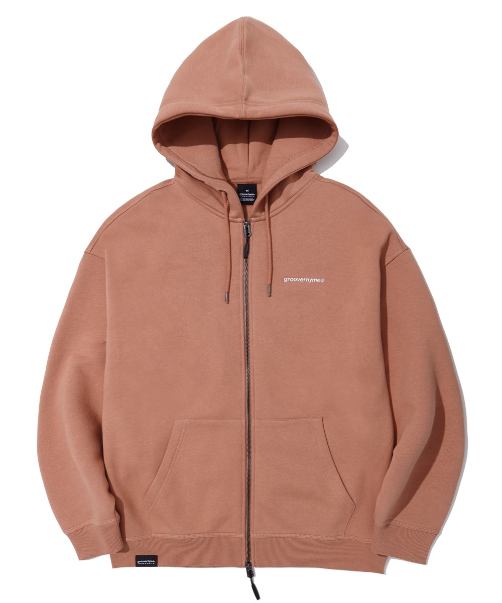 NYC LOCATION HOOD ZIP-UP (RUST) [LROWCTZ742MRSA]