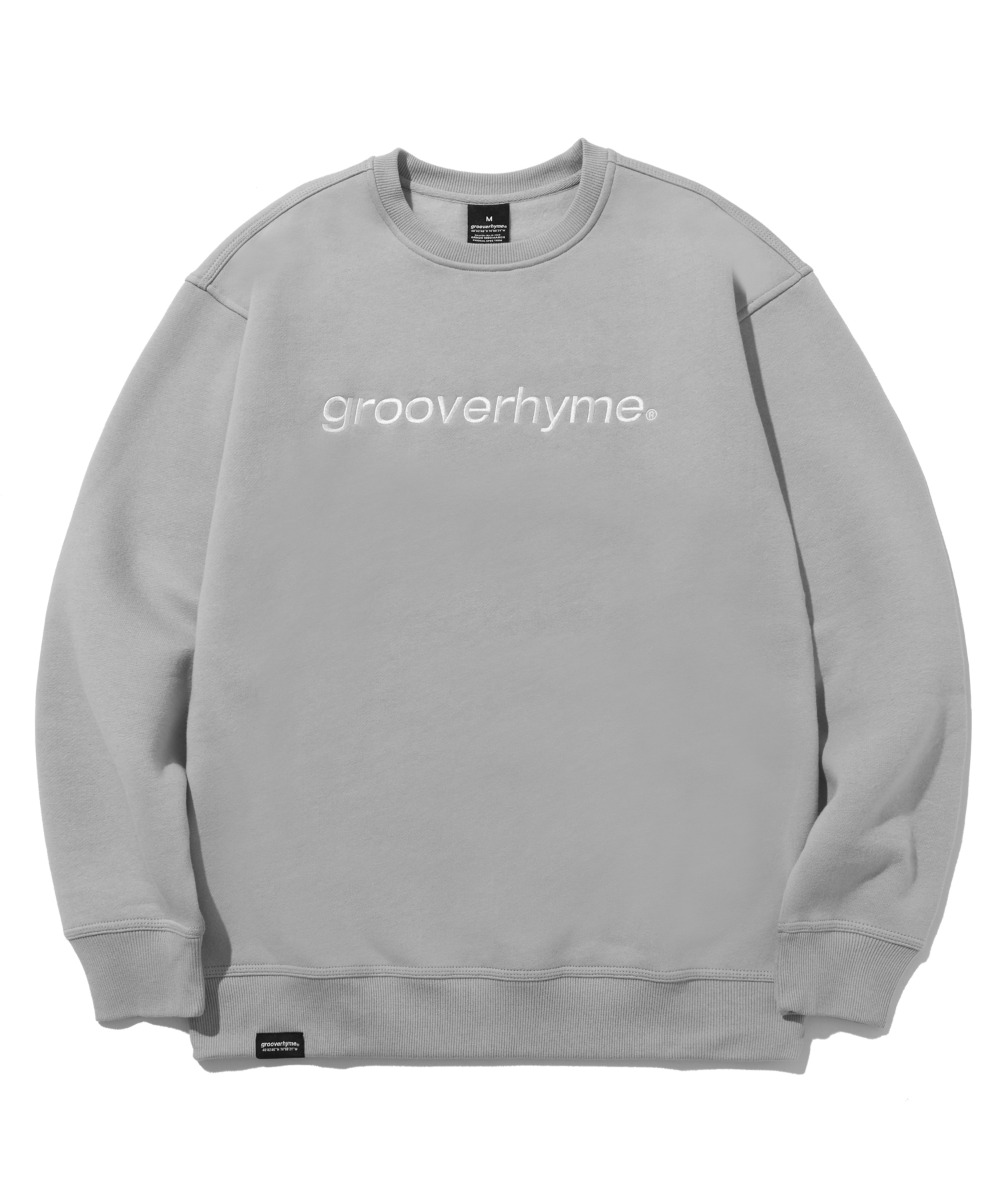 BASIC LOGO SWEAT SHIRTS (LIGHT GREY) [LROWCTM713MGYL]