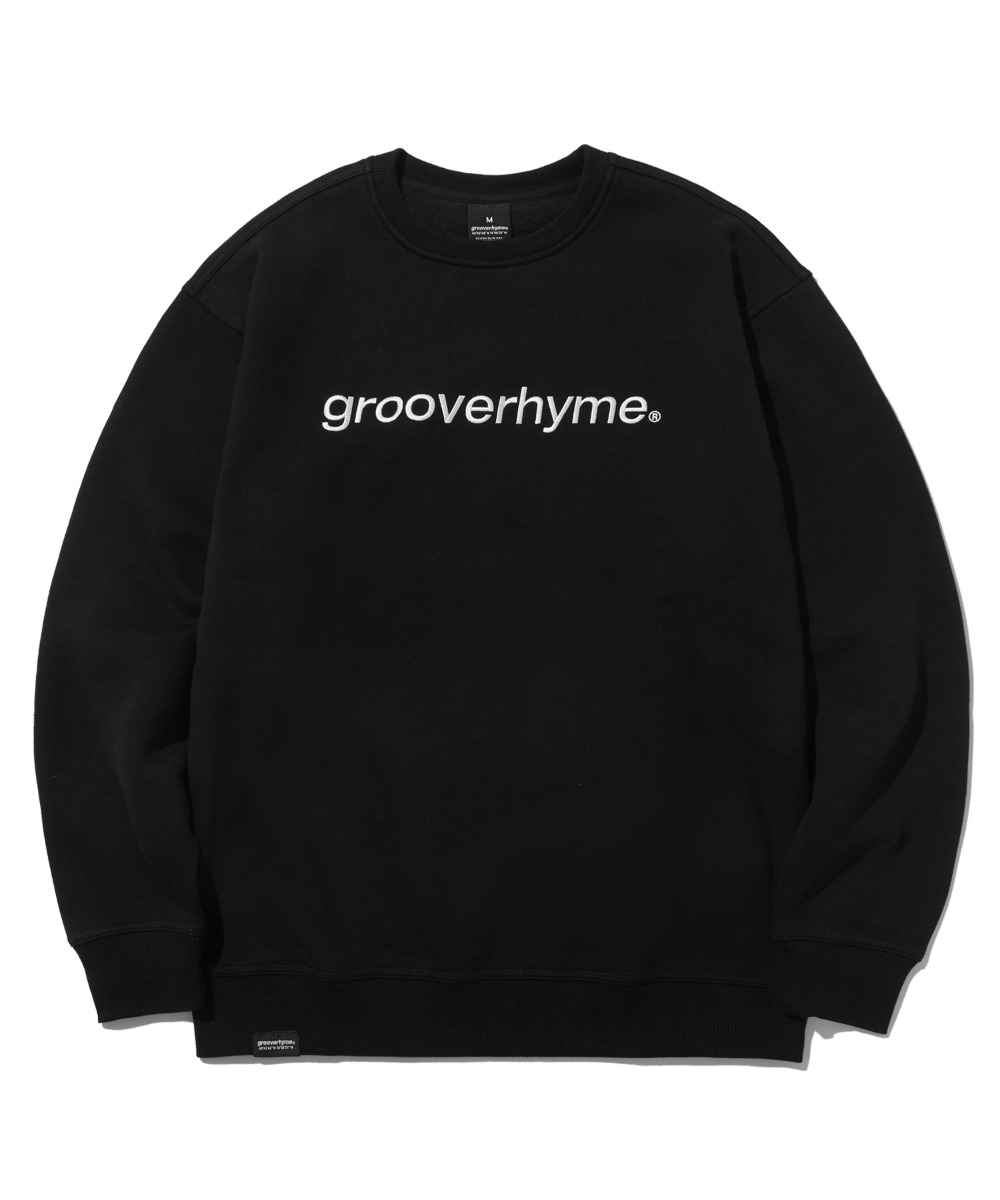 BASIC LOGO SWEAT SHIRTS (BLACK) [LROWCTM713MBKA]