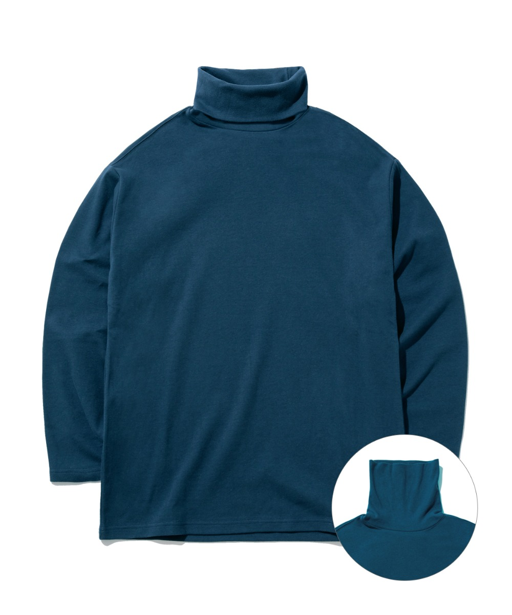 DAILY TURTLE NECK T-SHIRTS (NAVY) [GLT602H33NAA]