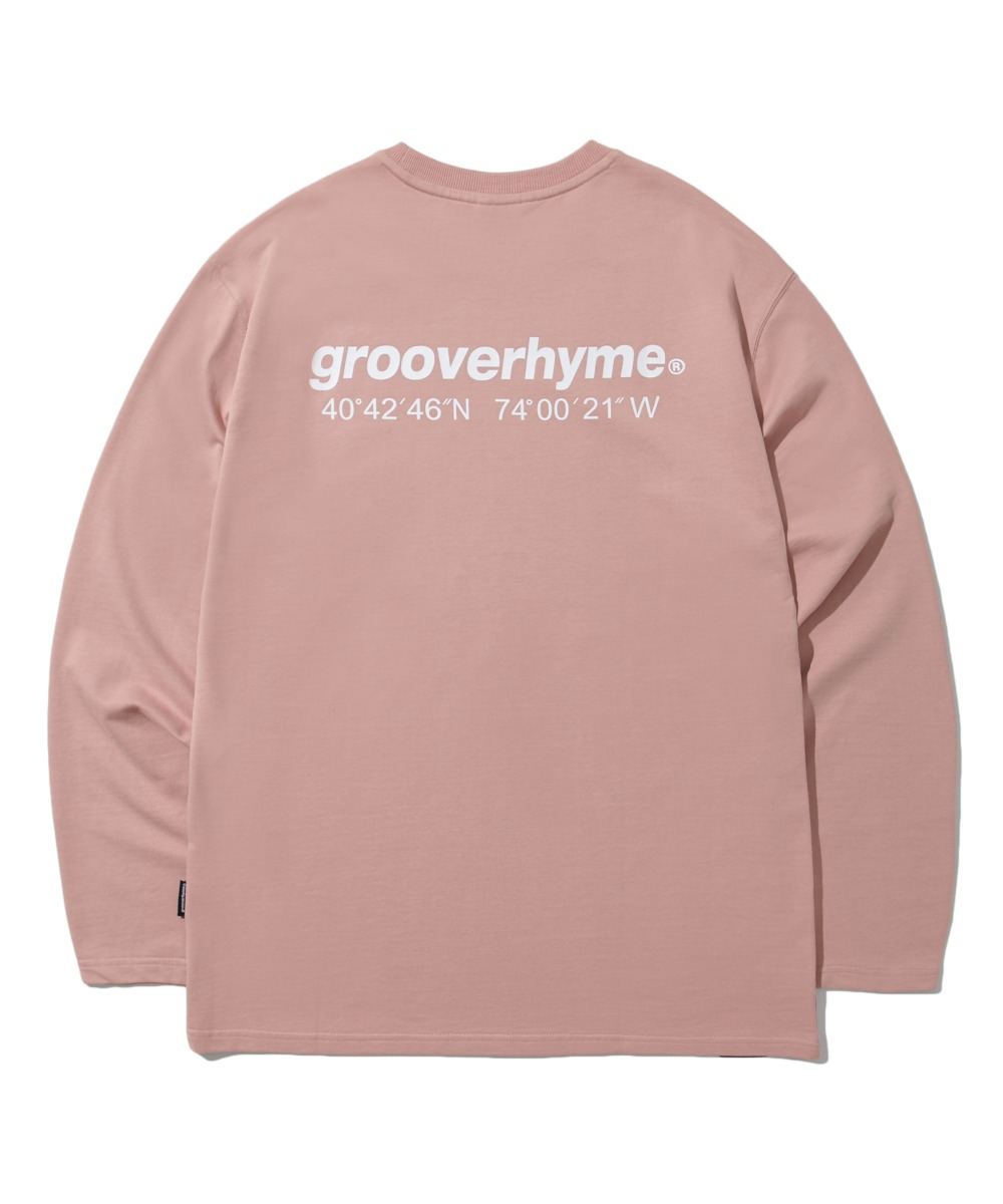 NYC LOCATION LONG SLEEVE T-SHIRTS (PINK) [LROFCTR721MPIA]