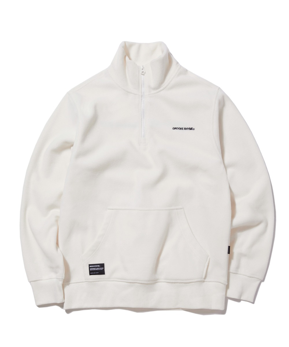 POLAR FLEECE HALF ZIP-UP (WHITE) [GNZ301H43WH]