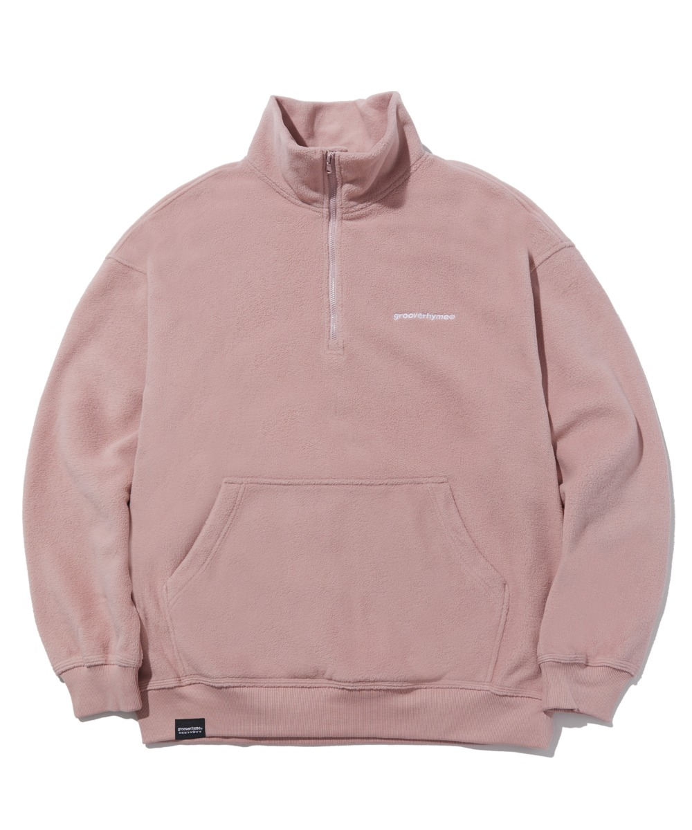 COMFORTABLE HALF ZIP-UP FLEECE (PINK) [LROWCFN781MPIA]