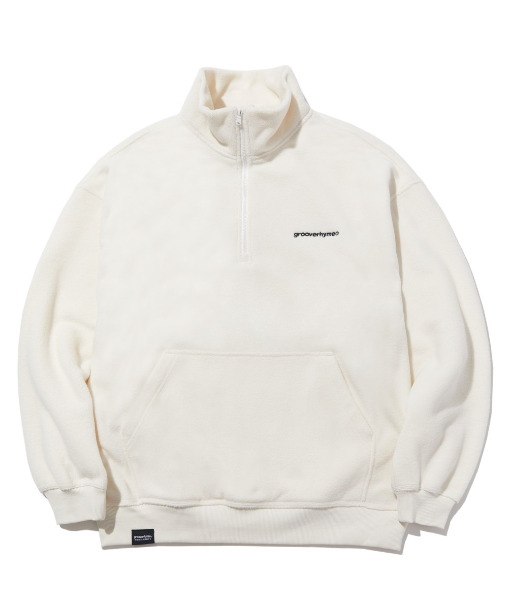 COMFORTABLE HALF ZIP-UP FLEECE (WHITE) [LROWCFN781MWHA]