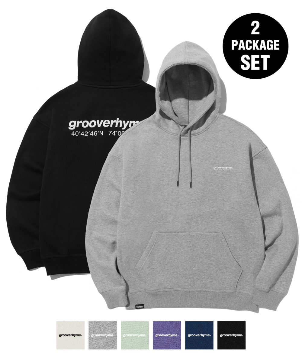 [1+1] NYC LOCATION HOODIE (6color) [LROWCTH731M]