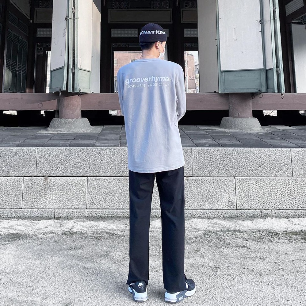 [STYLE] NYC LOCATION LONG SLEEVE T-SHIRTS (LIGHT GREY) [LROFCTR721MGYL]